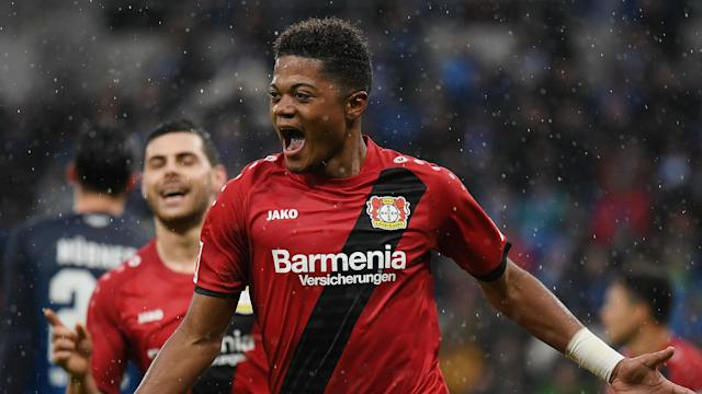 The 20-year-old attacker has been a sensation in Germany this season and has promised to bring an end to Leverkusen's silverware curse