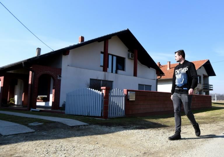 The family home, in the small Croatian town of Palovec, where a woman's body was found in the freezer