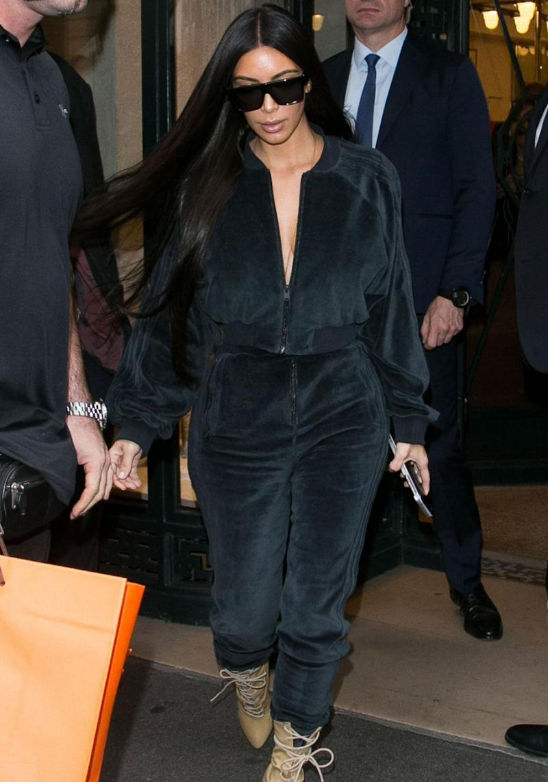 Back in October, Kim was tied up during the robbery by a gang of masked men who broke into her luxury apartment in Paris. Source: Getty