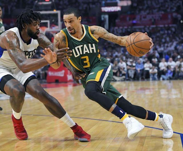 "<a class=""link rapid-noclick-resp"" href=""/nba/players/4488/"" data-ylk=""slk:George Hill"">George Hill</a> averaged 16.9 points per game this past season. (AP)"