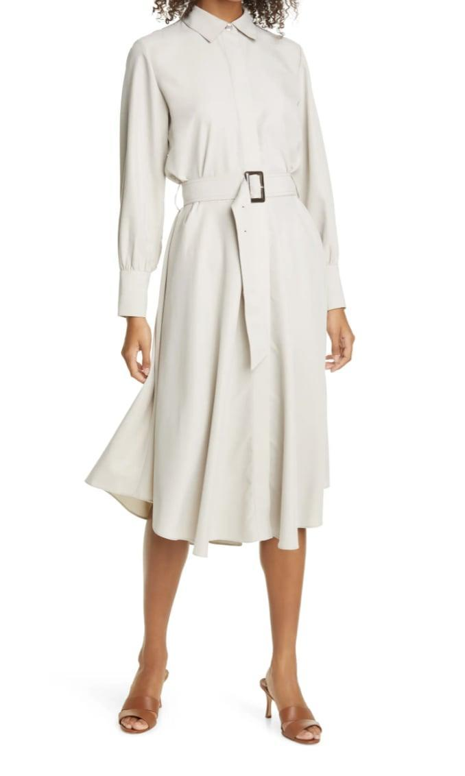 <p>This <span>Club Monaco Curved Hem Belted Shirtdress</span> ($112, originally $279) is a polished and refreshingly cool must-have.</p>