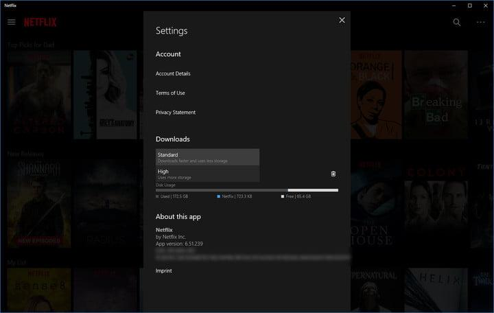 how to download movies and tv shows from netflix settings