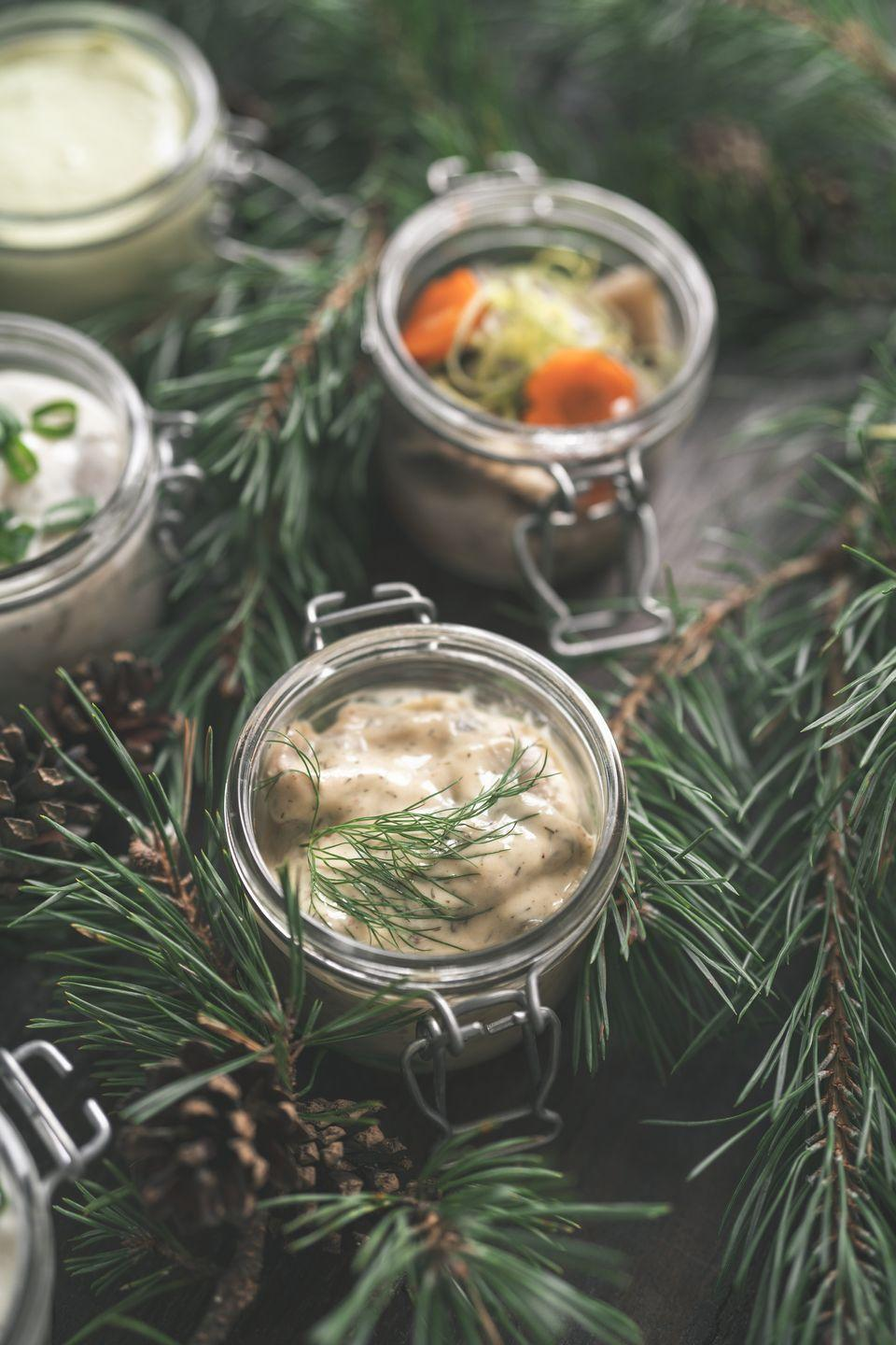 <p>Whether you like your herring pickled or fresh, eating it in some form at midnight is considered good luck in Germany and Sweden. </p>