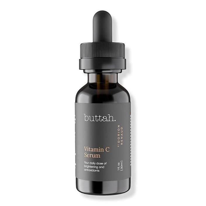 """Skin-care brand Buttah. may only be three years old, but it's already leaving quite a mark on the beauty industry. Founded by model and actor Dorion Renaud in 2018, the brand develops products with a mission to help alleviate dryness, oiliness, and hyperpigmentation specifically on brown skin. Potent formulas like this Vitamin C Serum target discoloration and retexturize skin with the help of ferulic acid — and, of course, <a href=""""https://www.allure.com/story/vitamin-c-benefits-for-skin?mbid=synd_yahoo_rss"""" rel=""""nofollow noopener"""" target=""""_blank"""" data-ylk=""""slk:vitamin C"""" class=""""link rapid-noclick-resp"""">vitamin C</a>. There's also moisturizing <a href=""""https://www.allure.com/story/what-is-glycerin-skin-care-ingredient?mbid=synd_yahoo_rss"""" rel=""""nofollow noopener"""" target=""""_blank"""" data-ylk=""""slk:glycerin"""" class=""""link rapid-noclick-resp"""">glycerin</a> and free-radical-fighting grapeseed extract to help minimize irritation. $39, Nordstrom. <a href=""""https://www.nordstrom.com/brands/buttah-skin--23033?"""" rel=""""nofollow noopener"""" target=""""_blank"""" data-ylk=""""slk:Get it now!"""" class=""""link rapid-noclick-resp"""">Get it now!</a>"""
