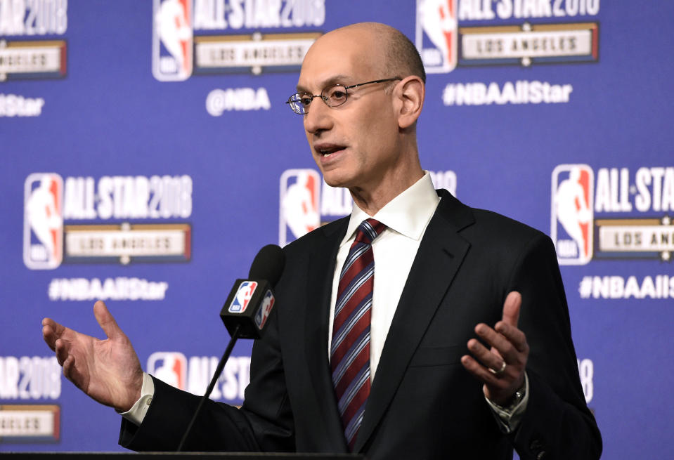 NBA commissioner Adam Silver strongly admonished tanking in a recent memo to the league's owners. (AP)