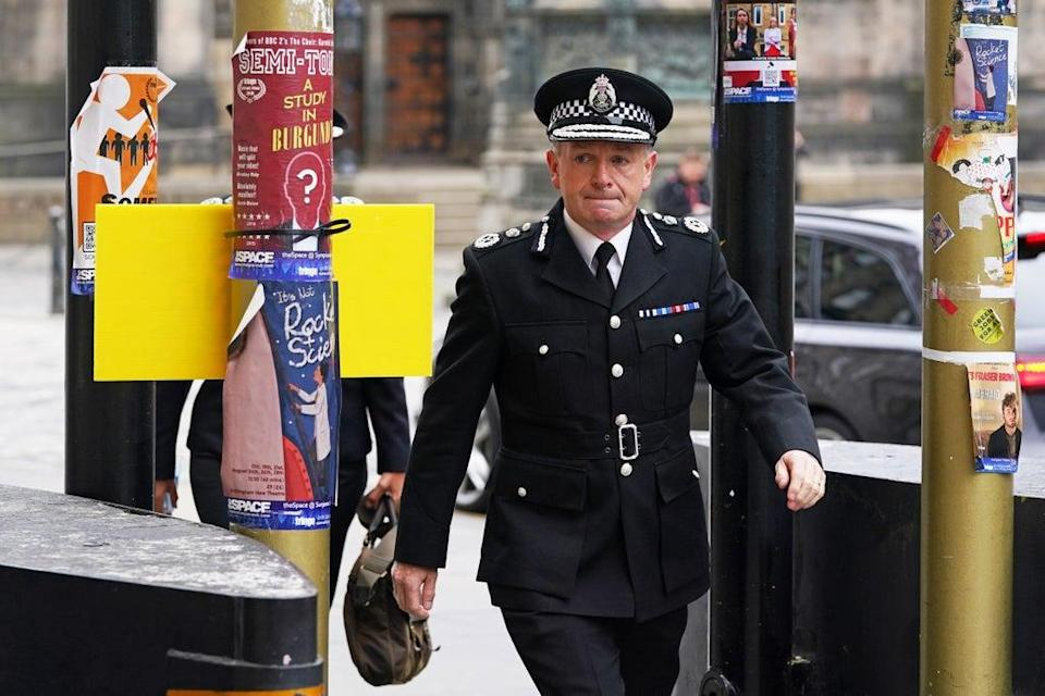 Chief Constable Iain Livingstone arriving for a hearing in the M9 death crash case at Edinburgh High Court (Andrew Milligan/PA) (PA Wire)