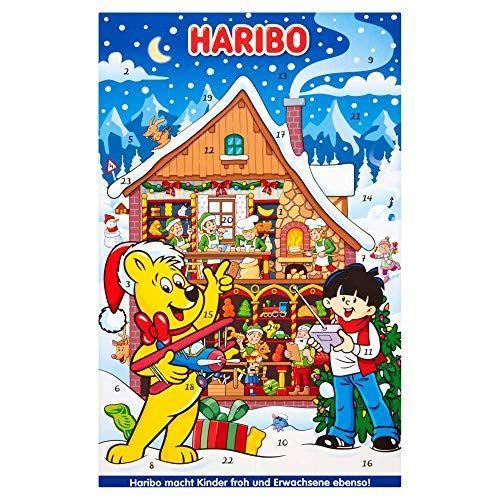 """<p><strong>Haribo</strong></p><p>amazon.com</p><p><strong>$21.50</strong></p><p><a href=""""https://www.amazon.com/dp/B0052VSMPC?tag=syn-yahoo-20&ascsubtag=%5Bartid%7C10055.g.4911%5Bsrc%7Cyahoo-us"""" rel=""""nofollow noopener"""" target=""""_blank"""" data-ylk=""""slk:Shop Now"""" class=""""link rapid-noclick-resp"""">Shop Now</a></p><p>Don't worry if there's someone in the family who's not a chocolate lover. They can still enjoy the holiday countdown with this Haribo advent calendar that comes with fruit flavored chewy sweets, marshmallows and more! </p>"""