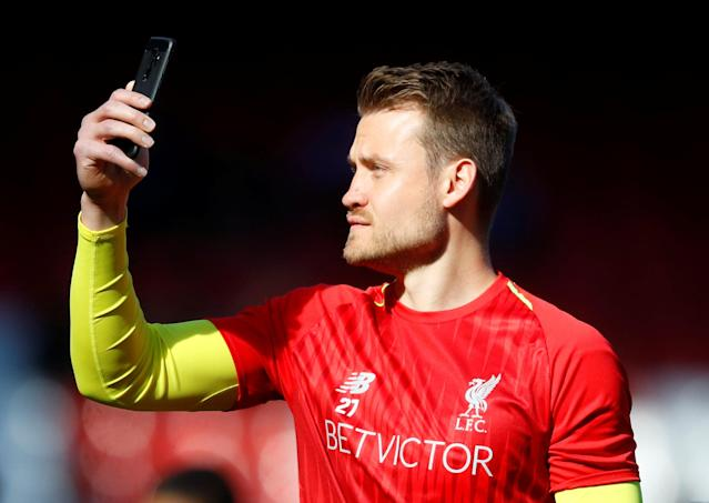 "Soccer Football - Premier League - Liverpool vs Brighton & Hove Albion - Anfield, Liverpool, Britain - May 13, 2018 Liverpool's Simon Mignolet after the match REUTERS/Phil Noble EDITORIAL USE ONLY. No use with unauthorized audio, video, data, fixture lists, club/league logos or ""live"" services. Online in-match use limited to 75 images, no video emulation. No use in betting, games or single club/league/player publications. Please contact your account representative for further details."
