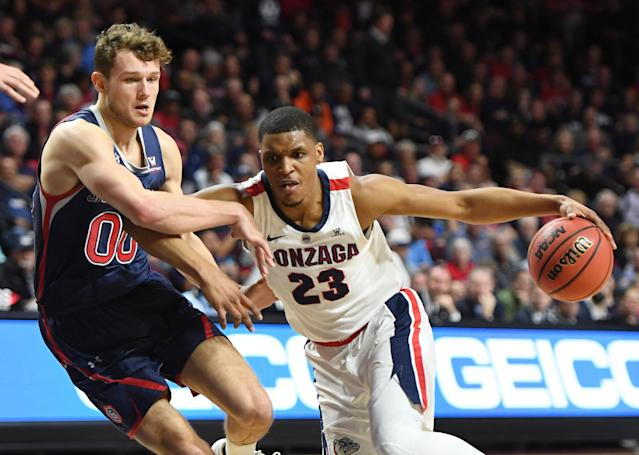 Gonzaga couldn't get the job done Tuesday night. (Photo by Ethan Miller/Getty Images)