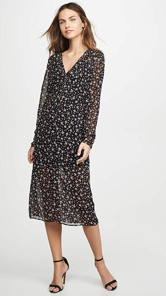 "<p>This <a href=""https://www.popsugar.com/buy/Fifth-Label-Current-Long-Sleeve-Midi-Wrap-Dress-482392?p_name=The%20Fifth%20Label%20Current%20Long-Sleeve%20Midi%20Wrap%20Dress&retailer=amazon.com&pid=482392&price=92&evar1=fab%3Aus&evar9=46558379&evar98=https%3A%2F%2Fwww.popsugar.com%2Fphoto-gallery%2F46558379%2Fimage%2F46558432%2FFifth-Label-Current-Long-Sleeve-Midi-Wrap-Dress&list1=shopping%2Camazon%2Coffice%2Cworkwear&prop13=api&pdata=1"" rel=""nofollow"" data-shoppable-link=""1"" target=""_blank"" class=""ga-track"" data-ga-category=""Related"" data-ga-label=""https://www.amazon.com/Fifth-Label-Womens-Current-Midnight/dp/B07PXP39C8?s=shopbop&amp;ref_=sb_ts&amp;th=1&amp;psc=1"" data-ga-action=""In-Line Links"">The Fifth Label Current Long-Sleeve Midi Wrap Dress</a> ($92) will look cool with a leather jacket.</p>"