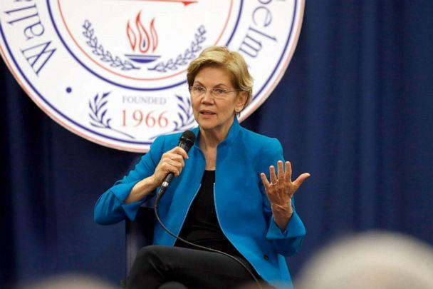 PHOTO: Democratic presidential candidate Sen. Elizabeth Warren speaks at a presidential forum at Wallace State Community College, March 1, 2020, in Selma, Ala. (Butch Dill/AP, FILE)