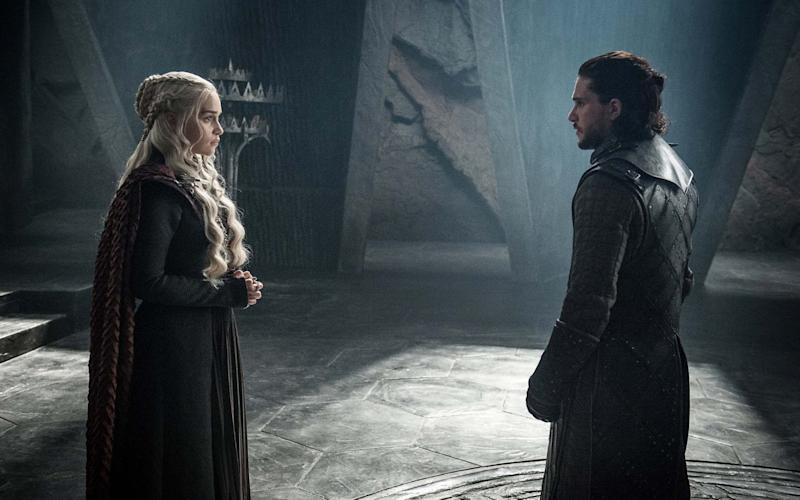 Jon and Daenerys meet for the first time
