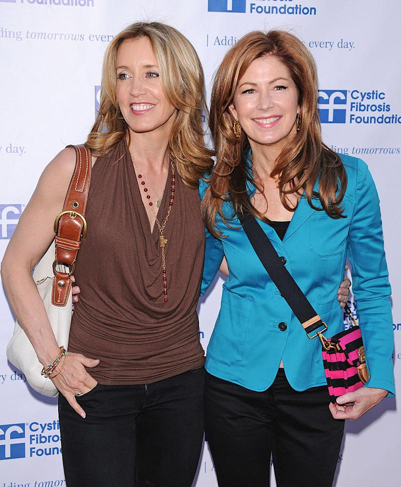 "Felicity Huffman and Dana Delany attend a ""Desperate Housewives"" charity event on April 16, 2011, in Universal City, Calif. (Photo: Jean Baptiste Lacroix/FilmMagic)"