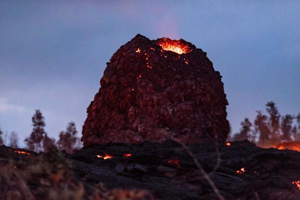 The lava-spewing eggs have been spotted in Hawaii (Caters)