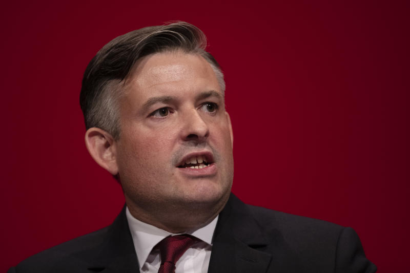 BRIGHTON, ENGLAND - SEPTEMBER 22: Jon Ashworth MP, The Shadow Secretary of State for Health for the Labour Party on September 22, 2019 in Brighton, England. During his keynote speech, Mr Ashworth promised free prescriptions for all, under a Labour Government. Labour return to Brighton for the 2019 conference against a backdrop of political turmoil over Brexit. (Photo by Dan Kitwood/Getty Images)