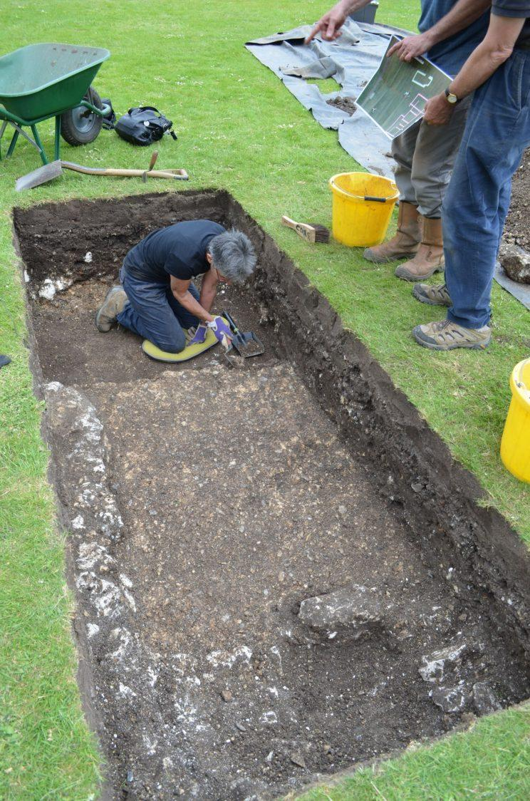 The remains of three near-complete Roman buildings dating back more than 1,000 years have been found under a city centre park.