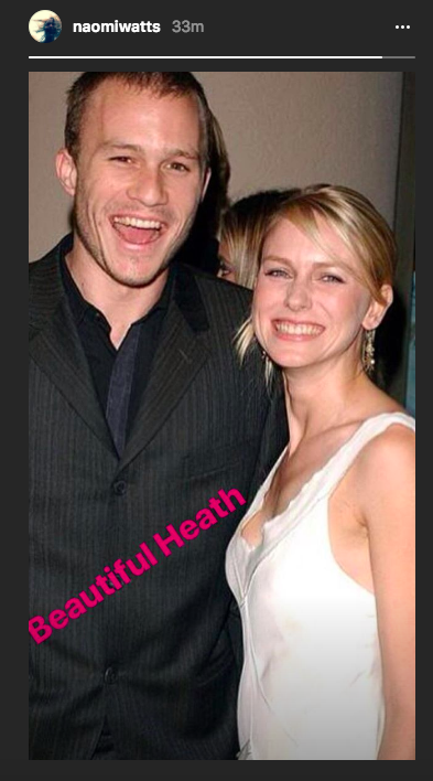 Naomi Watts shared this throwback on Instagram on Wednesday. (Photo: Naomi Watts via Instagram)