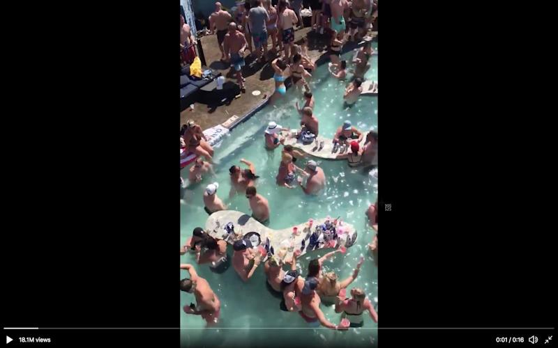 Social media video shows a pool party in Lake of the Ozarks on Memorial Day weekend, challenging social distancing guidelines.