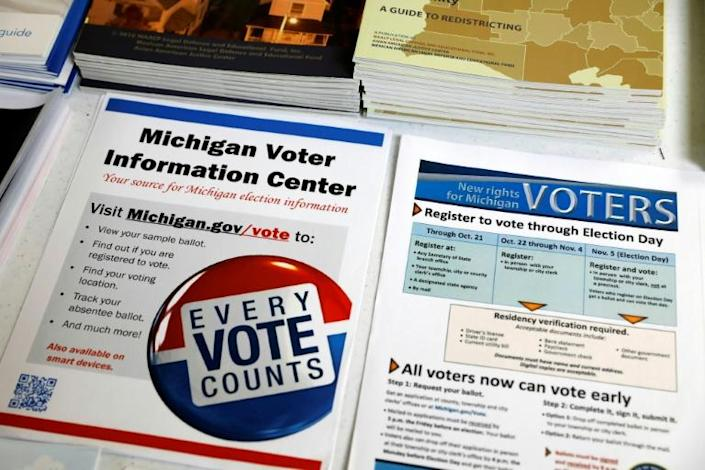 In majority-black Detroit and across the nation, African Americans overwhelmingly support Democrats -- but in 2016, their voter participation dropped (AFP Photo/JEFF KOWALSKY)