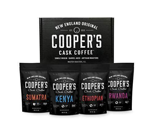 """<p><strong>Cooper's Cask Coffee</strong></p><p>amazon.com</p><p><strong>$34.95</strong></p><p><a href=""""https://www.amazon.com/dp/B079MHWH48?tag=syn-yahoo-20&ascsubtag=%5Bartid%7C10070.g.27473003%5Bsrc%7Cyahoo-us"""" rel=""""nofollow noopener"""" target=""""_blank"""" data-ylk=""""slk:Shop Now"""" class=""""link rapid-noclick-resp"""">Shop Now</a></p><p>Expand your father-in-law's palate tenfold with these coffees from around the world. The box set comes with a pound of single origin coffee, roasted to perfection at a small Rhode Island roastery. The box includes unique profiles for each of the four coffees, as well as tasting notes, roast levels, and origin information. All of the coffees are Farm Gate or Fair Trade, ensuring that coffee producers are being paid premium prices for their high quality beans. </p>"""