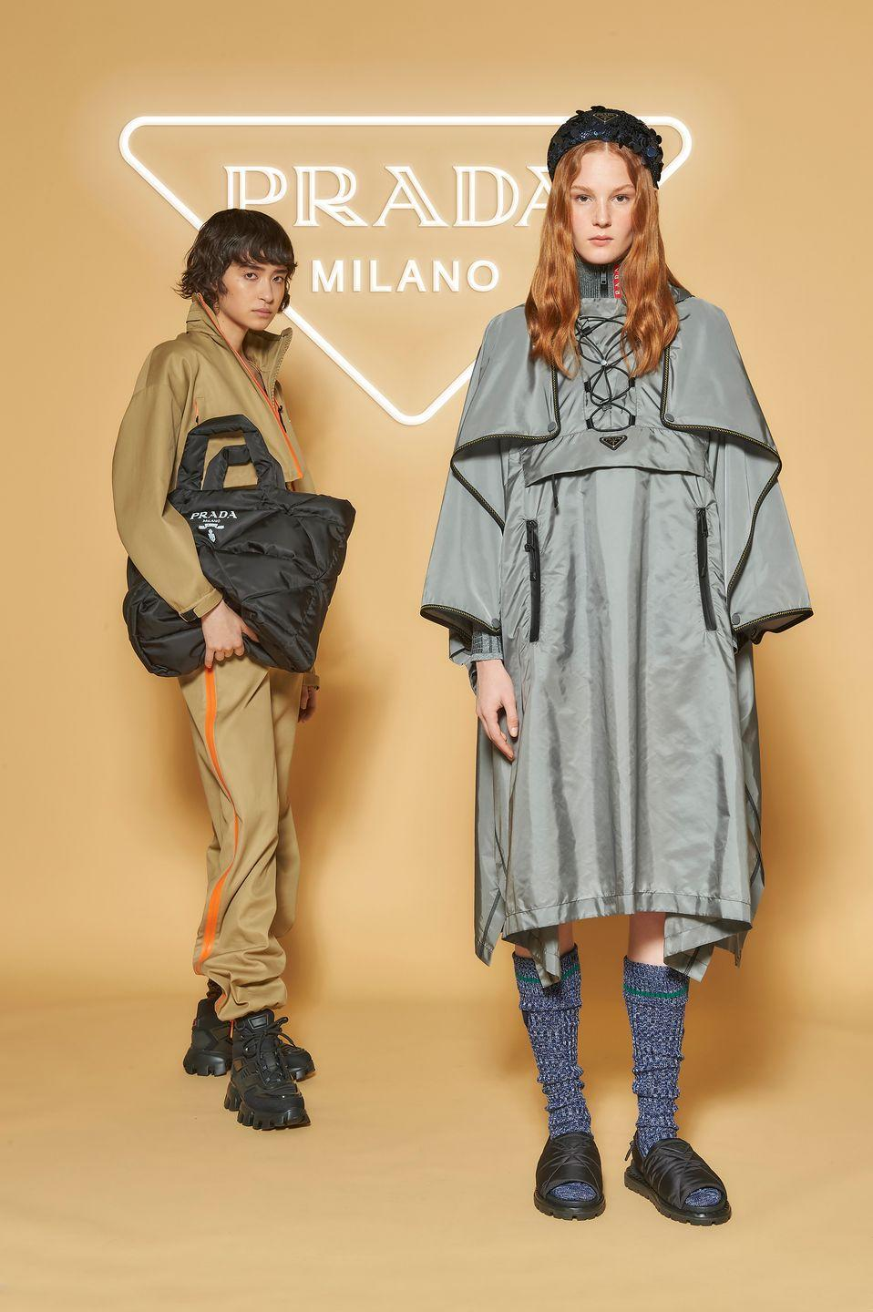 """<p><strong>Who: </strong>Prada</p><p><strong>What: </strong>Outdoor Mountain collection and pop-up stores</p><p><strong>Where:</strong> Pop-ups at Beverly Hills and Broadway NYC stores til August 9, available online at Prada.com</p><p><strong>Why:</strong> Prada is adventuring into the next outdoor environment, this time honoring the sporty leisure of mountainside dressing. Technical nylon jackets and pants take on muted colors inspired by mountain range colors and patterns. Tartan adorns sleeping bags, totes, and Re-Nylon sport bras to provide elevated athleisure for the slopes and back. Prada Outdoor Mountain will hit the slopes in New York and Beverly Hills today in stores until mid-August. </p><p><a class=""""link rapid-noclick-resp"""" href=""""https://www.prada.com/us/en.html"""" rel=""""nofollow noopener"""" target=""""_blank"""" data-ylk=""""slk:SHOP NOW"""">SHOP NOW</a></p>"""