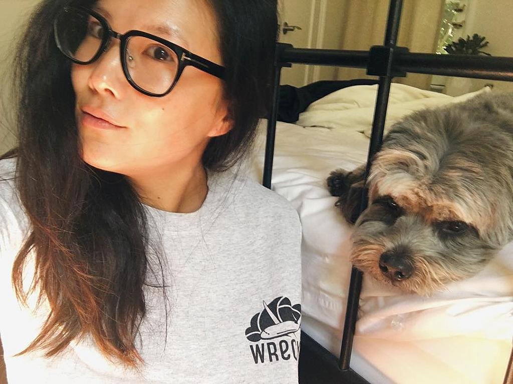 <p>Good morning @yahootv!!! Now begins my takeover. Hoping it goes smoothly. Got my #Wrecked shirt on so naturally I had to make my pup @jbearthedog take a selfie with me. He hasn't had his coffee yet. — @allymaki </p>