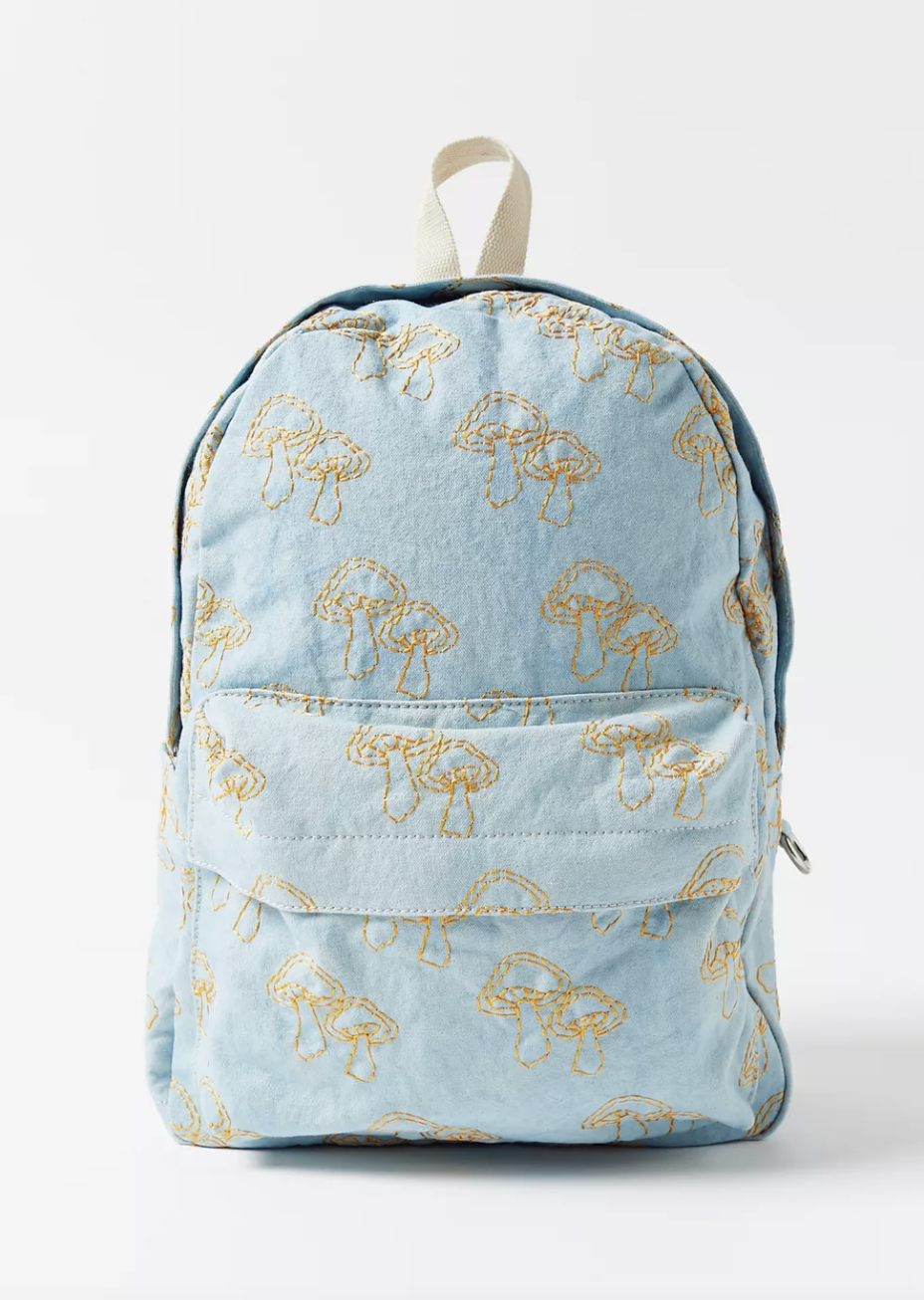 The best backpacks for middle & high school: UO Embroidered Icon Backpack (Photo via Urban Outfitters)