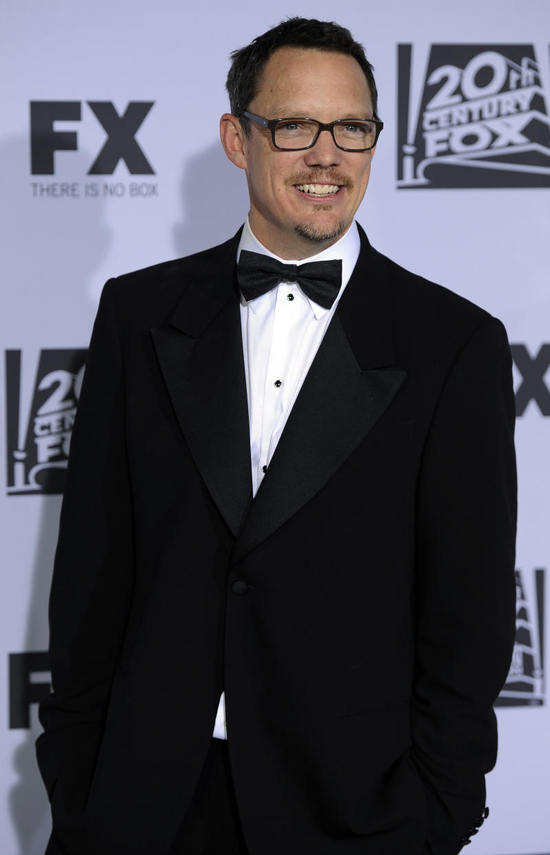 """FILE - In this Jan. 15, 2012 file photo, Matthew Lillard arrives at the 2012 FOX Golden Globe After Party at the Beverly Hilton in Los Angeles.  Lillard's first directing feature, """"Fat Kid Rules the World,"""" releases Oct. 5, 2012. (AP Photo/Chris Pizzello, File)"""