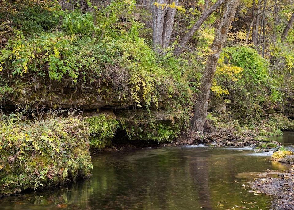 """<p><strong>Best camping in Iowa:</strong> Backbone State Park</p> <p>It's not all flat farmland in <a href=""""https://www.cntraveler.com/story/des-moines-iowa-midwest-of-the-moment-art-town-keith-haring-?mbid=synd_yahoo_rss"""" rel=""""nofollow noopener"""" target=""""_blank"""" data-ylk=""""slk:Iowa"""" class=""""link rapid-noclick-resp"""">Iowa</a>. Since 1920, Backbone State Park has been a celebrated recreation area, boasting one of the state's best geological wonders: the Devil's Backbone, a steep ridge of river-carved bedrock. Hikers can explore amongst twisted cedars and cliffs of dolomite limestone, and rock climbers will love the park's plentiful steep routes.</p>"""