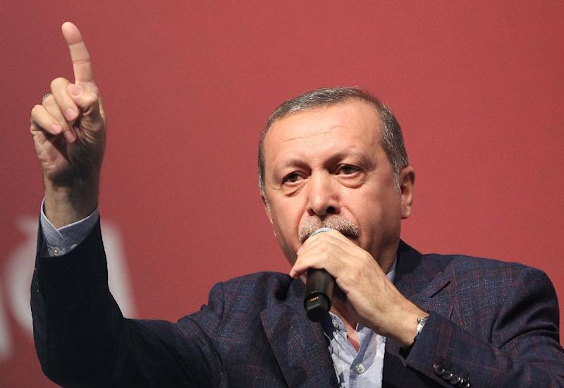 Turkish President Recep Tayyip Erdogan has emerged as one of the main opponents of Syrian President Bashar al-Assad, saying his exit is key to solving the conflict (AFP Photo/Daniel Roland)