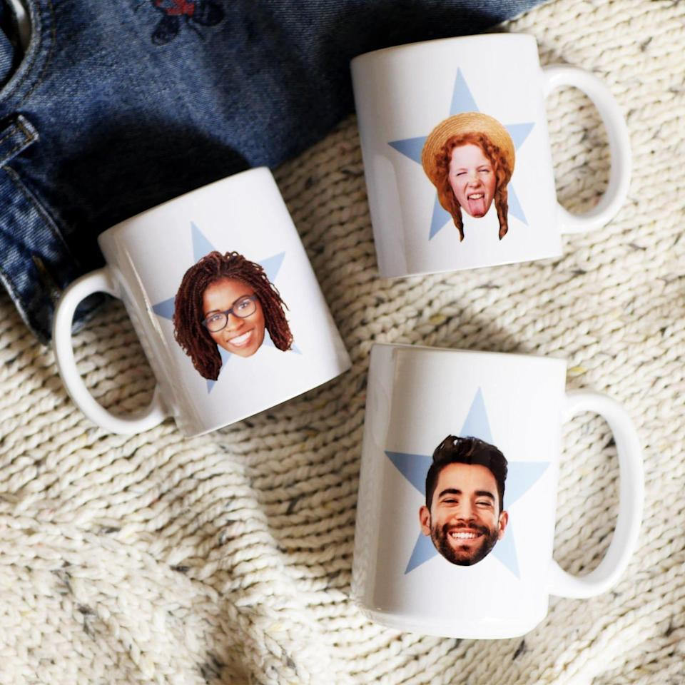 """<p><strong>MugsAndPins</strong></p><p>etsy.com</p><p><strong>$14.50</strong></p><p><a href=""""https://go.redirectingat.com?id=74968X1596630&url=https%3A%2F%2Fwww.etsy.com%2Flisting%2F695919410%2Fthe-office-mug-mothers-day-gift-mug-the&sref=https%3A%2F%2Fwww.goodhousekeeping.com%2Fholidays%2Fgift-ideas%2Fg436%2Fgifts-under-thirty-dollars%2F"""" rel=""""nofollow noopener"""" target=""""_blank"""" data-ylk=""""slk:Shop Now"""" class=""""link rapid-noclick-resp"""">Shop Now</a></p><p>Mix and match personalized photos of your work BFFs on these coffee mugs, inspired by the one Kelly gave Andy in <em>The Office</em>. </p>"""