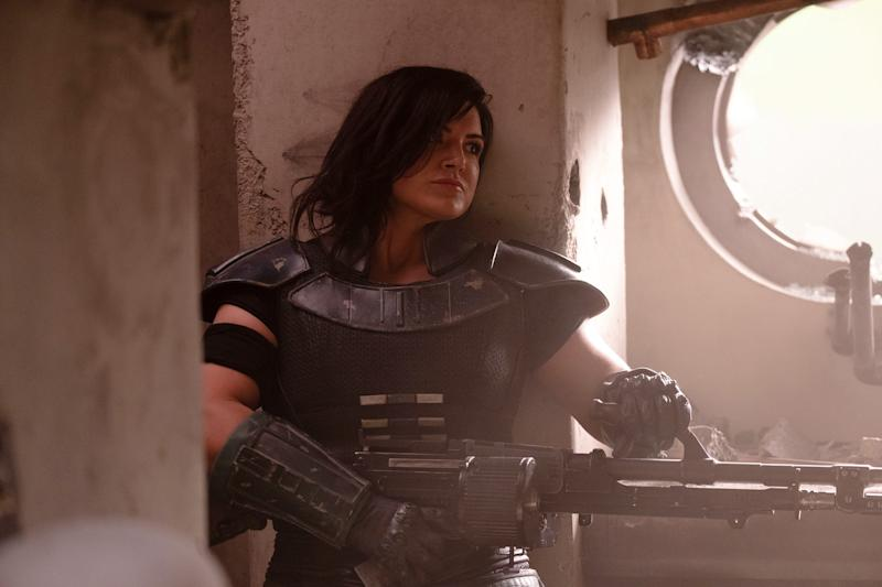 Gina Carano plays former Rebel shock trooper Cara Dune in 'Star Wars' spinoff, 'The Mandalorian,' on the Disney+ streaming service.