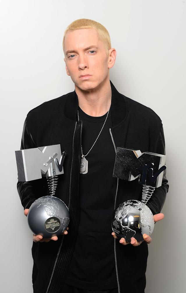 <p>Eminem, with seven (counting one with the group D12). Beyoncé is close behind, with six. (Photo: Getty Images) </p>