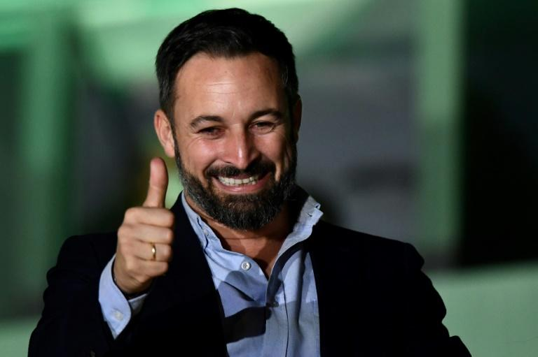 The November election has handed far-right Vox leader Santiago Abascal his biggest victory yet (AFP Photo/OSCAR DEL POZO)