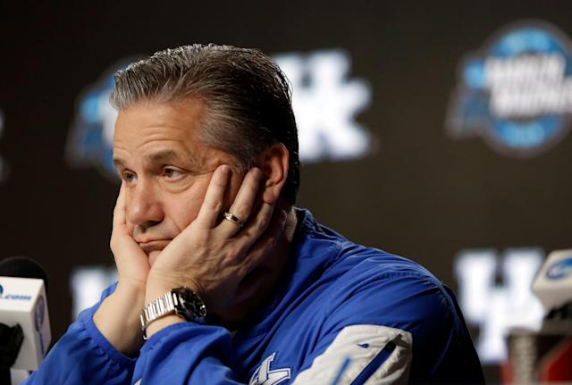 John Calipari's son might be leaving Kentucky. (AP Photo/Jeff Roberson)