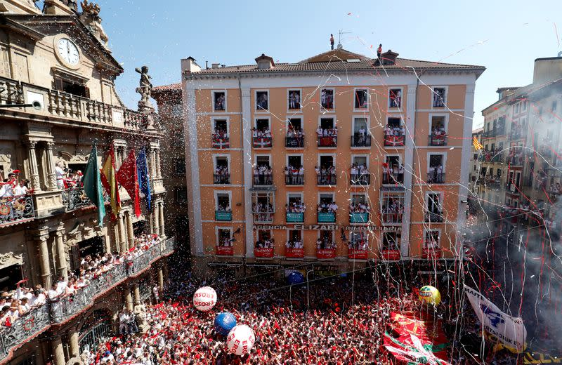 Crowd control, police patrols for Spain's cancelled bull-running fiesta