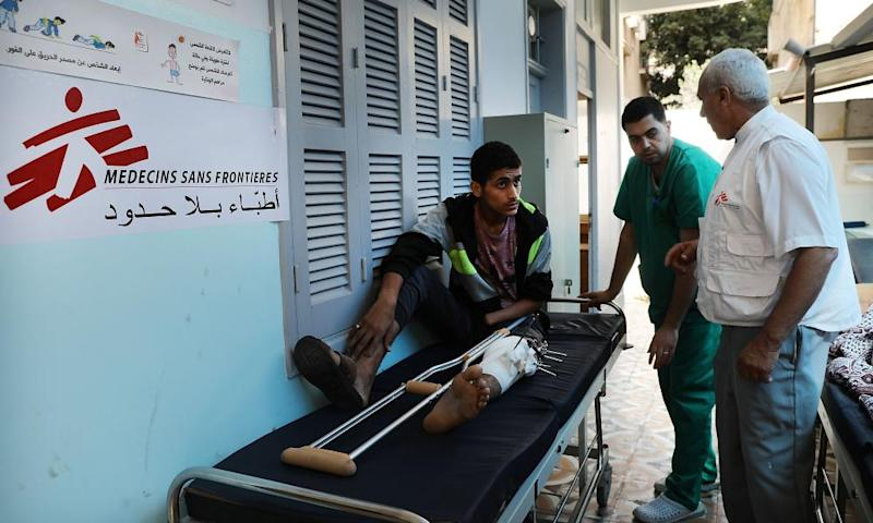More than 60 Palestinians were killed and at least 2,700 were injured by Israeli fire on Monday. About 16 paramedics were injured and one doctor later died.