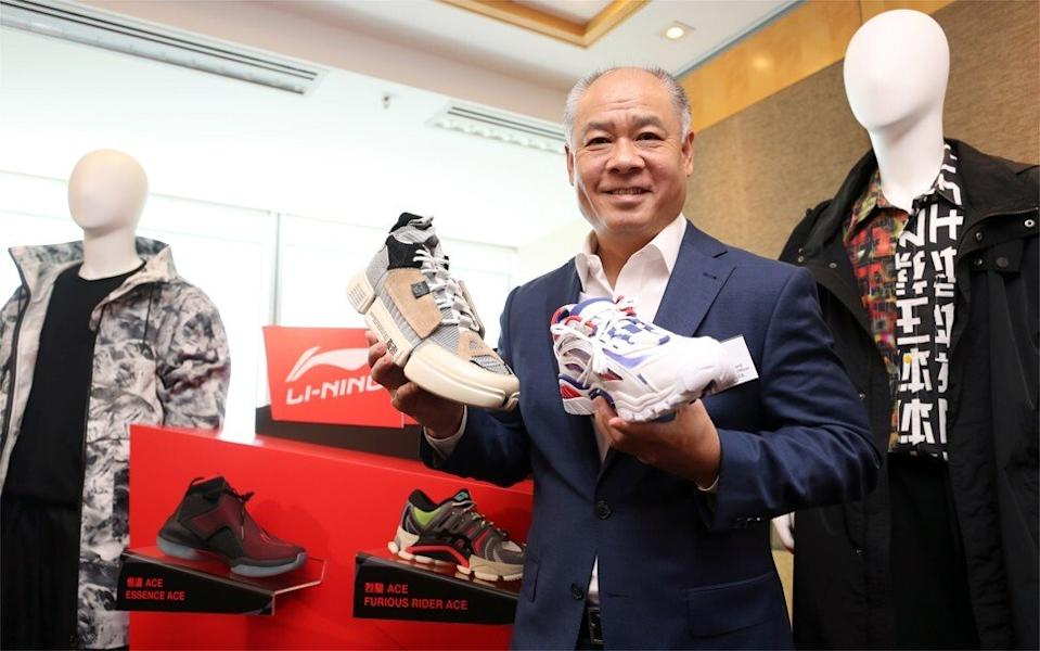 Li Ning, founder and executive chairman of Li Ning Company Limited, during a visit to his company's store in Wan Chai on 13 August 2018. Photo Winson Wong