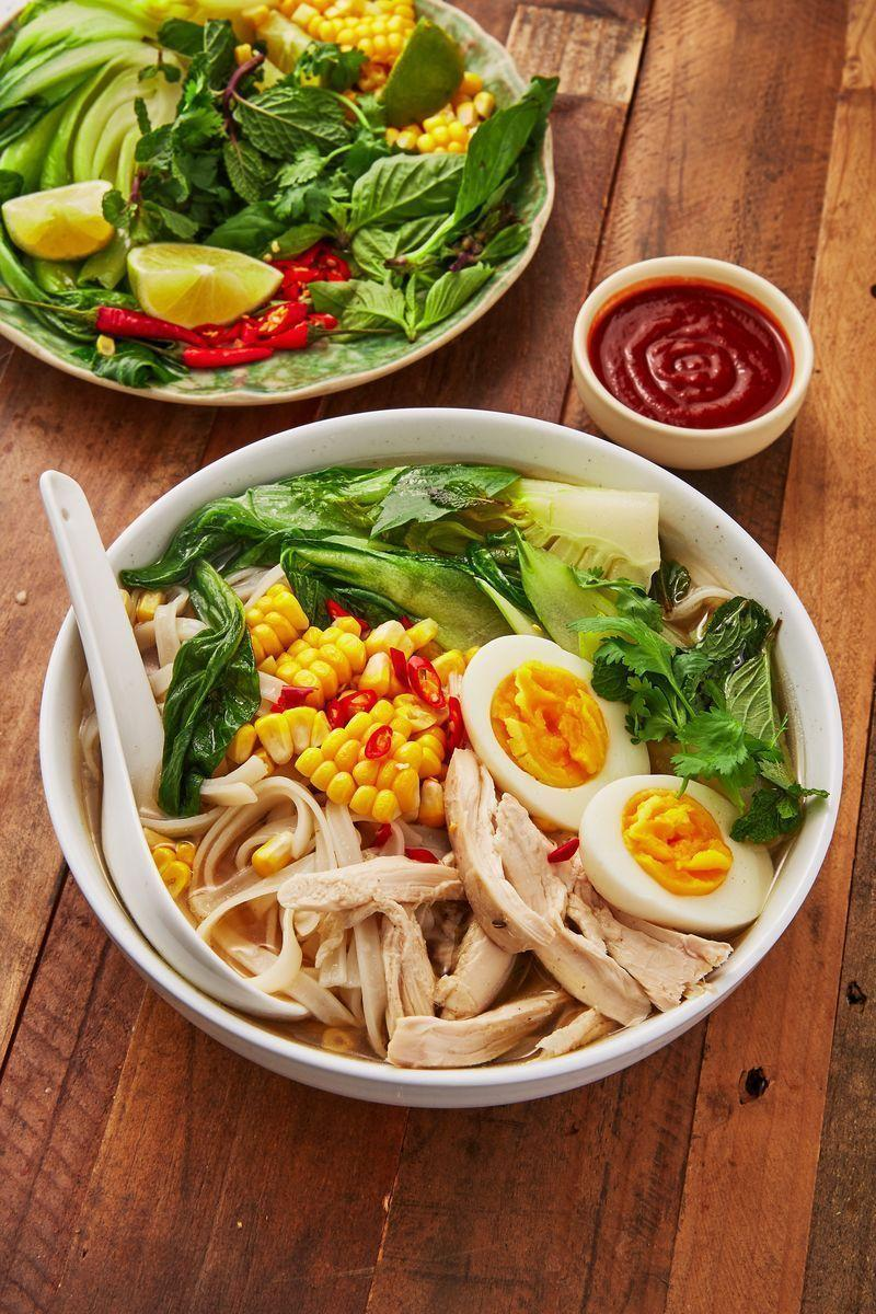 """<p>We love <a href=""""https://www.delish.com/uk/cooking/recipes/a30293330/pho-recipe/"""" rel=""""nofollow noopener"""" target=""""_blank"""" data-ylk=""""slk:pho"""" class=""""link rapid-noclick-resp"""">pho</a>, who doesn't? And this <a href=""""https://www.delish.com/uk/chicken-recipes/"""" rel=""""nofollow noopener"""" target=""""_blank"""" data-ylk=""""slk:chicken"""" class=""""link rapid-noclick-resp"""">chicken</a> alternative is insanely delicious. Featuring the usual ingredients including ginger, star anise and cinnamon, along with a <a href=""""https://www.delish.com/uk/cooking/recipes/a30440664/slow-cooker-rotisserie-chicken-recipe/"""" rel=""""nofollow noopener"""" target=""""_blank"""" data-ylk=""""slk:whole chicken"""" class=""""link rapid-noclick-resp"""">whole chicken</a> (yum!) and chilli, this recipe is SO flavourful.</p><p>Get the <a href=""""https://www.delish.com/uk/cooking/recipes/a30607809/chicken-broth/"""" rel=""""nofollow noopener"""" target=""""_blank"""" data-ylk=""""slk:Chicken Broth With Noodles"""" class=""""link rapid-noclick-resp"""">Chicken Broth With Noodles</a> recipe.</p>"""
