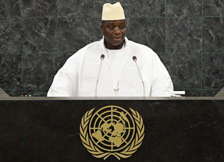 FILE PHOTO: Gambian President Yahya Jammeh addresses the 68th United Nations General Assembly at U.N. headquarters in New York
