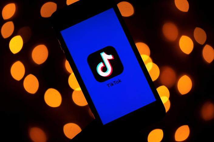 This photo taken on November 21, 2019, shows the logo of the social media video sharing app Tiktok displayed on a tablet screen in Paris. Photo: LIONEL BONAVENTURE/AFP via Getty Images