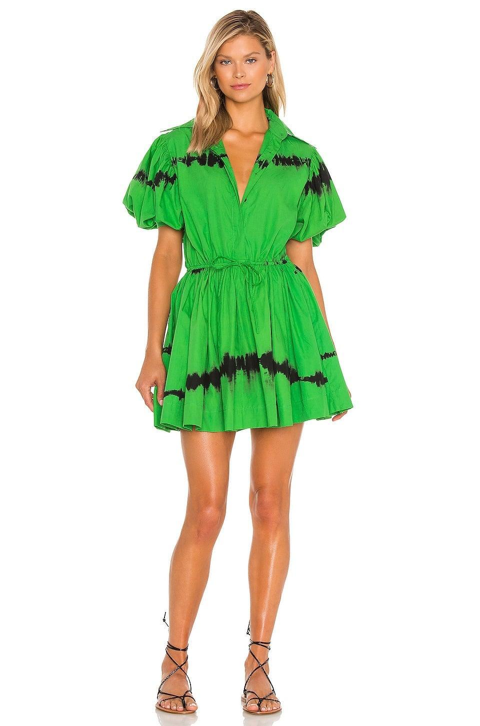<p>This <span>SWF Puff Sleeve Mini Dress</span> ($299) makes the best kind of statement.</p>