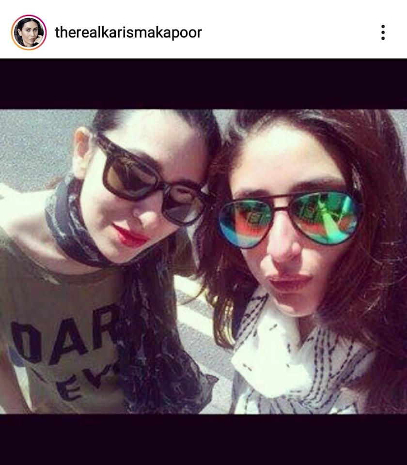 Karisma dedicated her first Instagram upload to the warm bond she shares with her younger sibling. Though Kareena took forever to jump on the Instagram bandwagon, Karisma would always post pics of her since her sign up in August 2014.