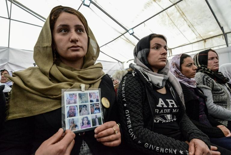 Members of the UN special probe into IS crimes have travelled Iraq to gather evidence and witness testimonies, including from the Yazidi community, thousands of whom were killed, tortured and enslaved by IS (AFP Photo/Zaid AL-OBEIDI)