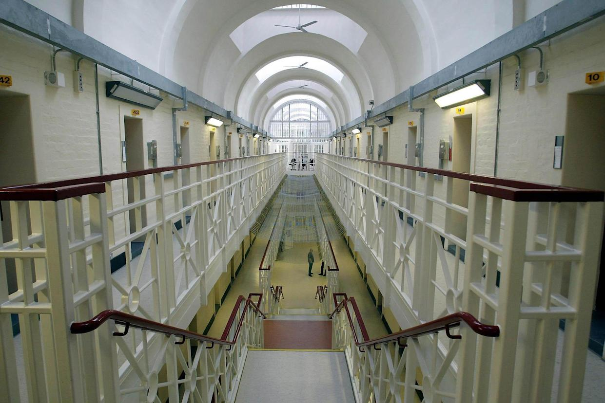 The B-wing at Wakefield Prison, West Yorkshire. Prison staff at Wakefield, which holds 570 inmates, 70% of whom are serving life and 20% serving 10 years or more, were criticised for their 'disrespectful' attitude to offenders in their care. Chief Inspector of Prisons Anne Owers found there was an 'extremely high' number of complaints from inmates about bullying, although they added that procedures to deal with the complaints were thorough.