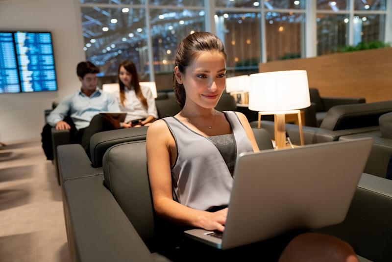 Fancy getting your work done in a lounge, even though you've got an economy class boarding pass? (Source: Getty)
