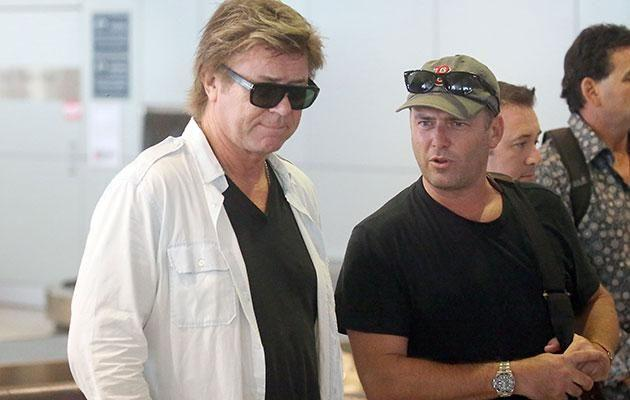 Richard Wilkins and Karl Stefanovic waiting for luggage at Sydney's airport. Source: Diimex