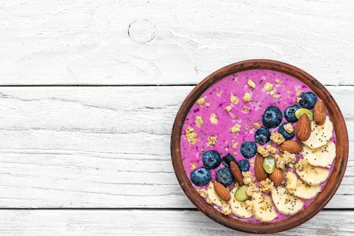 """<p>The food court goes beyond pizza and hot dogs, too. Costco introduced a <a href=""""https://www.livekindly.co/costco-adds-a-vegan-acai-bowl-to-its-food-court-menu/#:~:text=The%20retailer's%20new%20acai%20bowl,Costo's%20own%2Dbrand%20Kirkland%20granola."""" rel=""""nofollow noopener"""" target=""""_blank"""" data-ylk=""""slk:plant-based acai bowl"""" class=""""link rapid-noclick-resp"""">plant-based acai bowl </a>for $5 at their food courts nationwide in 2018.</p>"""