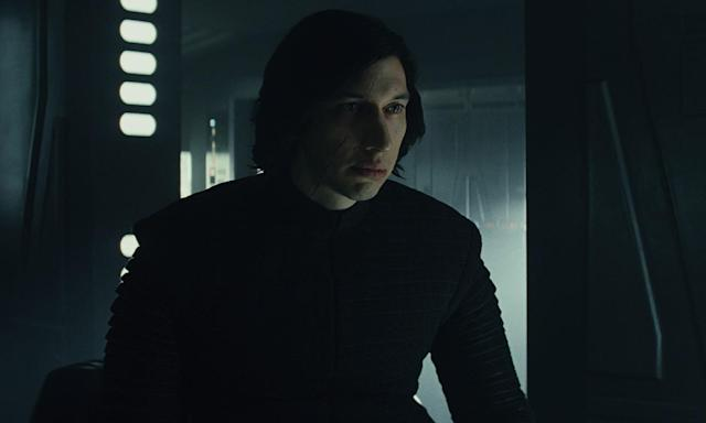 Adam Driver as Kylo Ren in <i>The Last Jedi</i> (Disney)