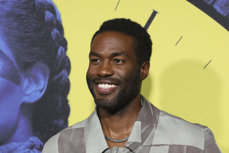 "Yahya Abdul-Mateen II attends the ""Watchmen"" premiere at the Cinerama Dome on Monday, October 14, 2019 in Los Angeles. (Photo by Mark Von Holden/Invision/AP)"